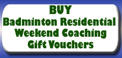 Badminton Coaching Gift Vouchers