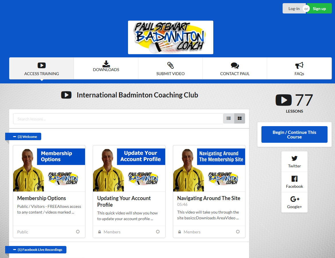 Online Badminton Video Library