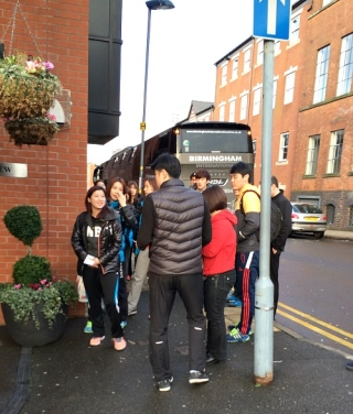 Korean Badminton Team Arriving At The All Englands