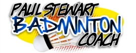 Paul Stewart Advanced Badminton Coach Retina Logo