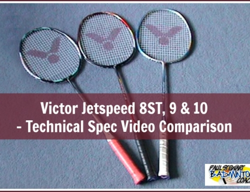 Victor Jetspeed 10, 9 & 8ST Badminton Racket – Video Comparison