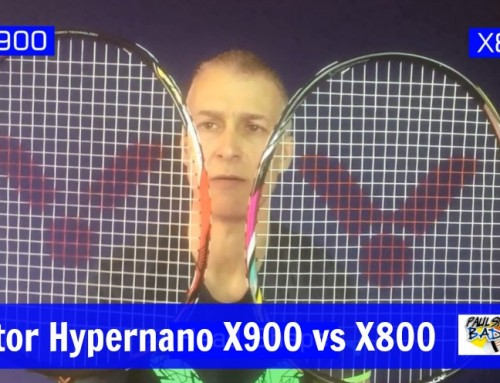 Victor Hypernano X900 vs X800 Badminton Racket Video Comparison