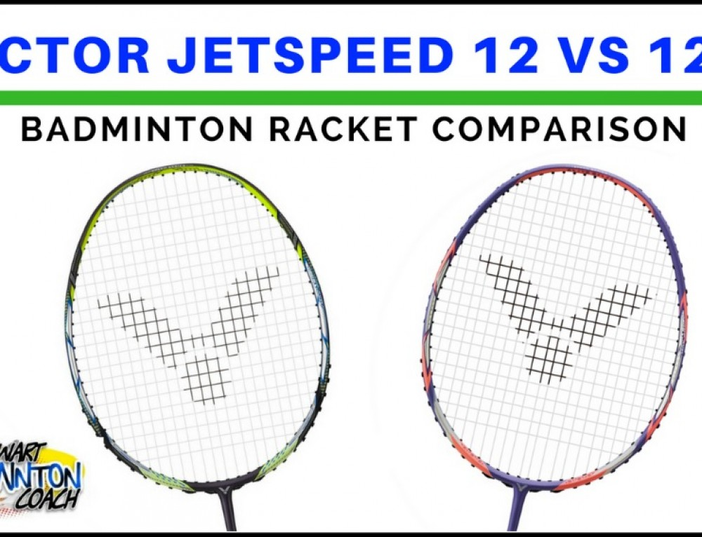 Victor Jetspeed 12 vs Jetspeed 12F Badminton Racket Video Comparison