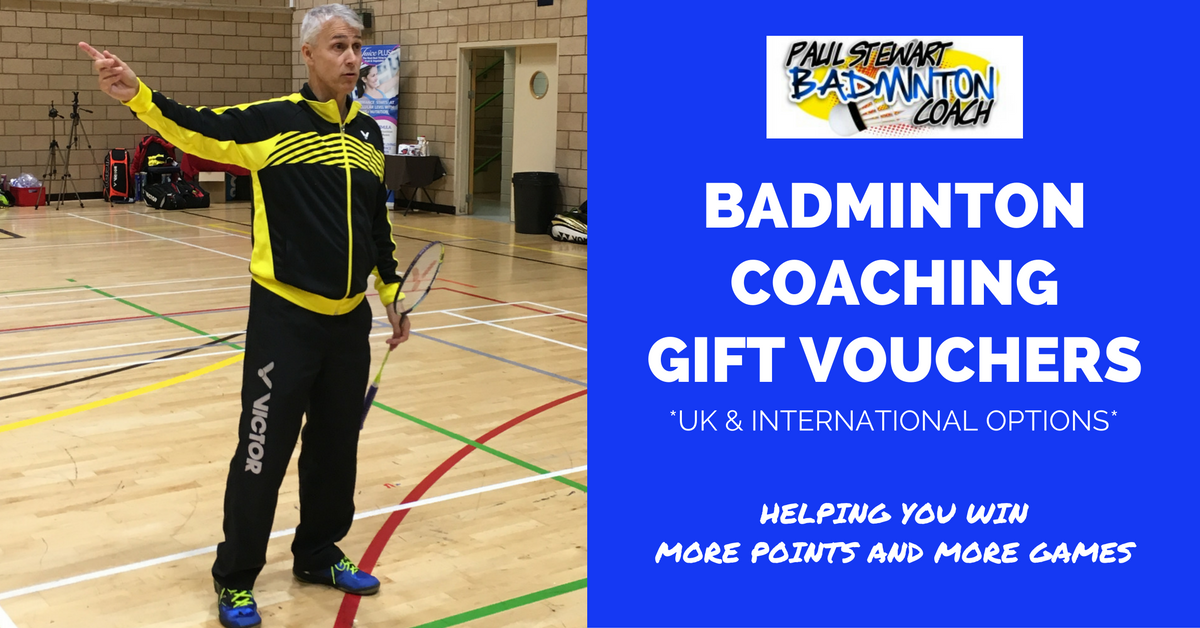 Badminton Coaching Gift Vouchers