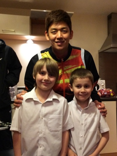 The Stewart boys with Lee Yong Dae