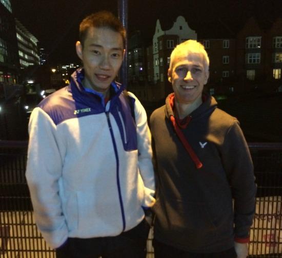 Paul Stewart with Lee Chong Wei