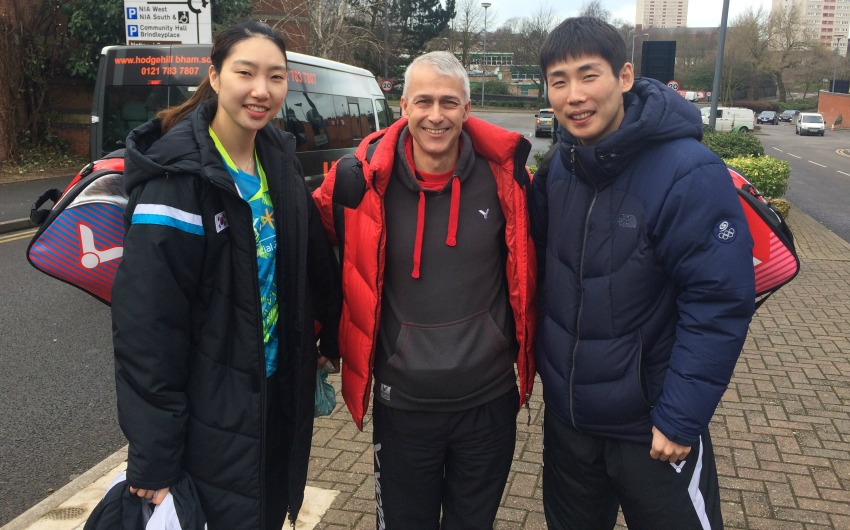 Son Wan Ho and Sung Ji Hyun with Paul Stewart