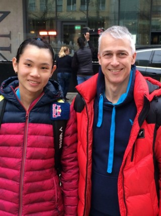 Tai Tzu Ying with Paul Stewart