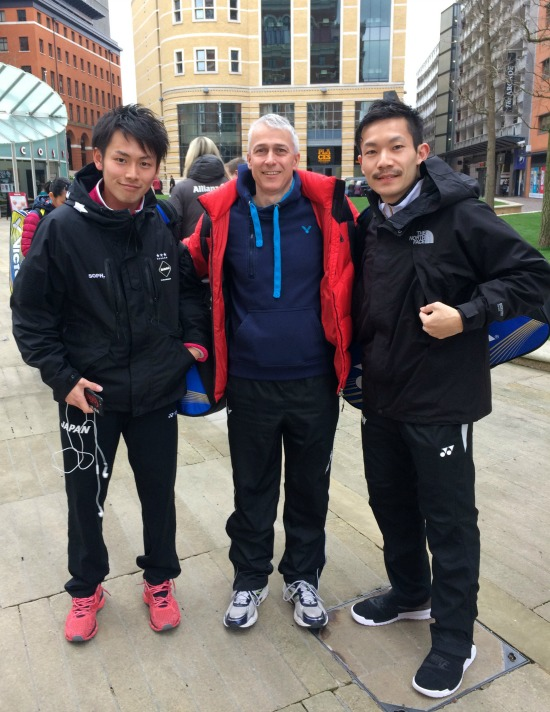 Takeshi Kamura and Keigo Sonoda with Paul Stewart