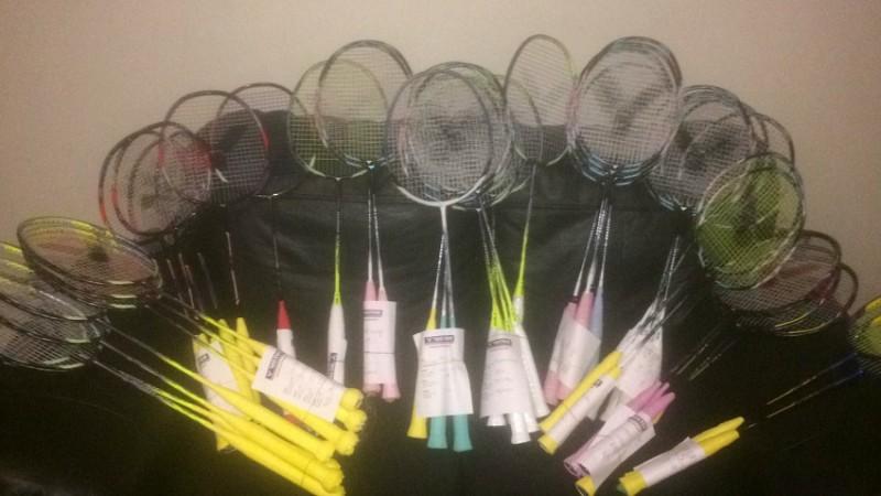 Freshly Strung Badminton Rackets