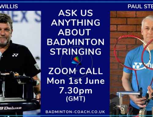 Badminton Stringing – Ask Us Anything Zoom Call Recording