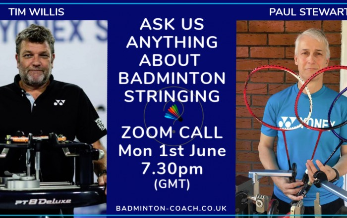 Badminton Stringing Zoom Call 010620