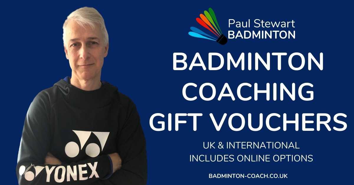 Badminton Coach - Gift Vouchers